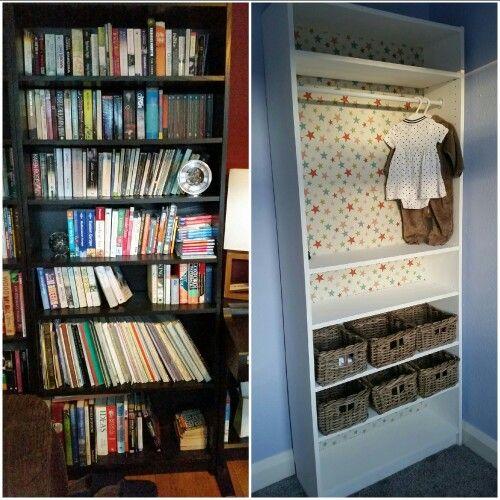 Ikea BILLY bookcase into nursery wardrobe Paint, take the back off - küchen ikea gebraucht