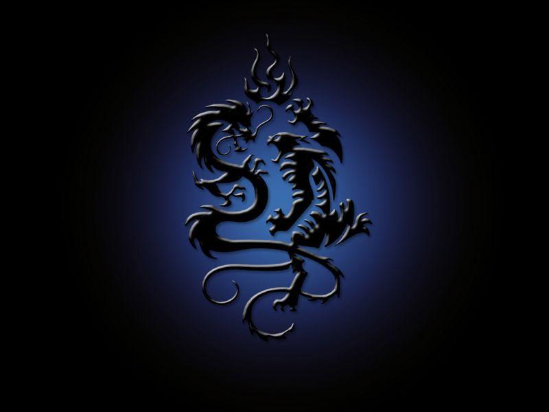 Cool Blue Dragon Wallpaper