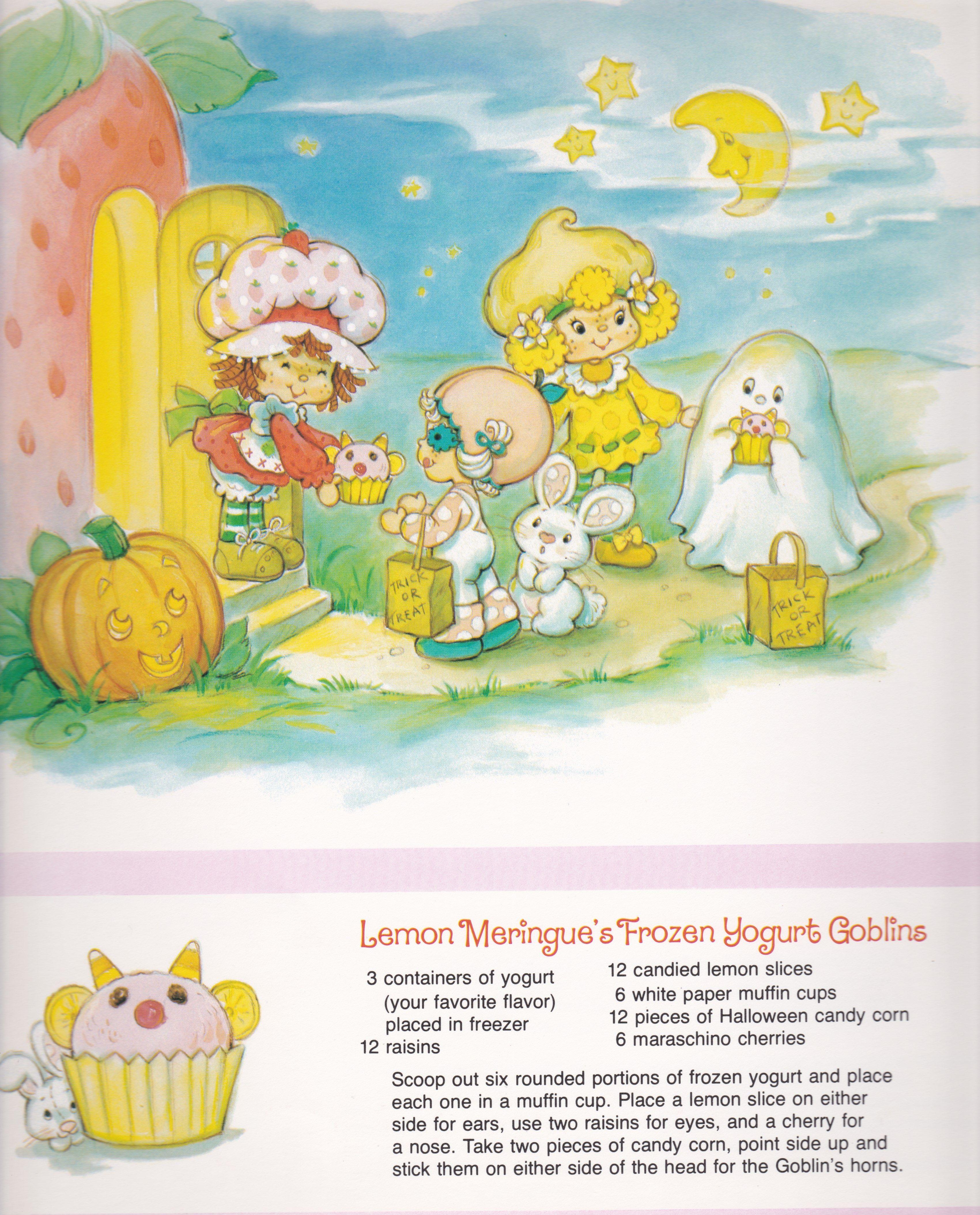 Vintage Strawberry Shortcake 1983 Sweet Treats Calendar - October ...