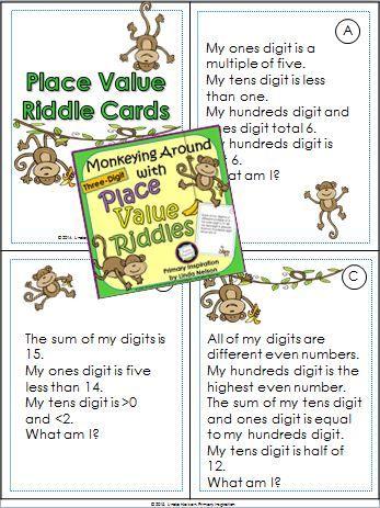 Place Value Number Riddles | Number riddles, Riddles ... |Riddles For Second Graders