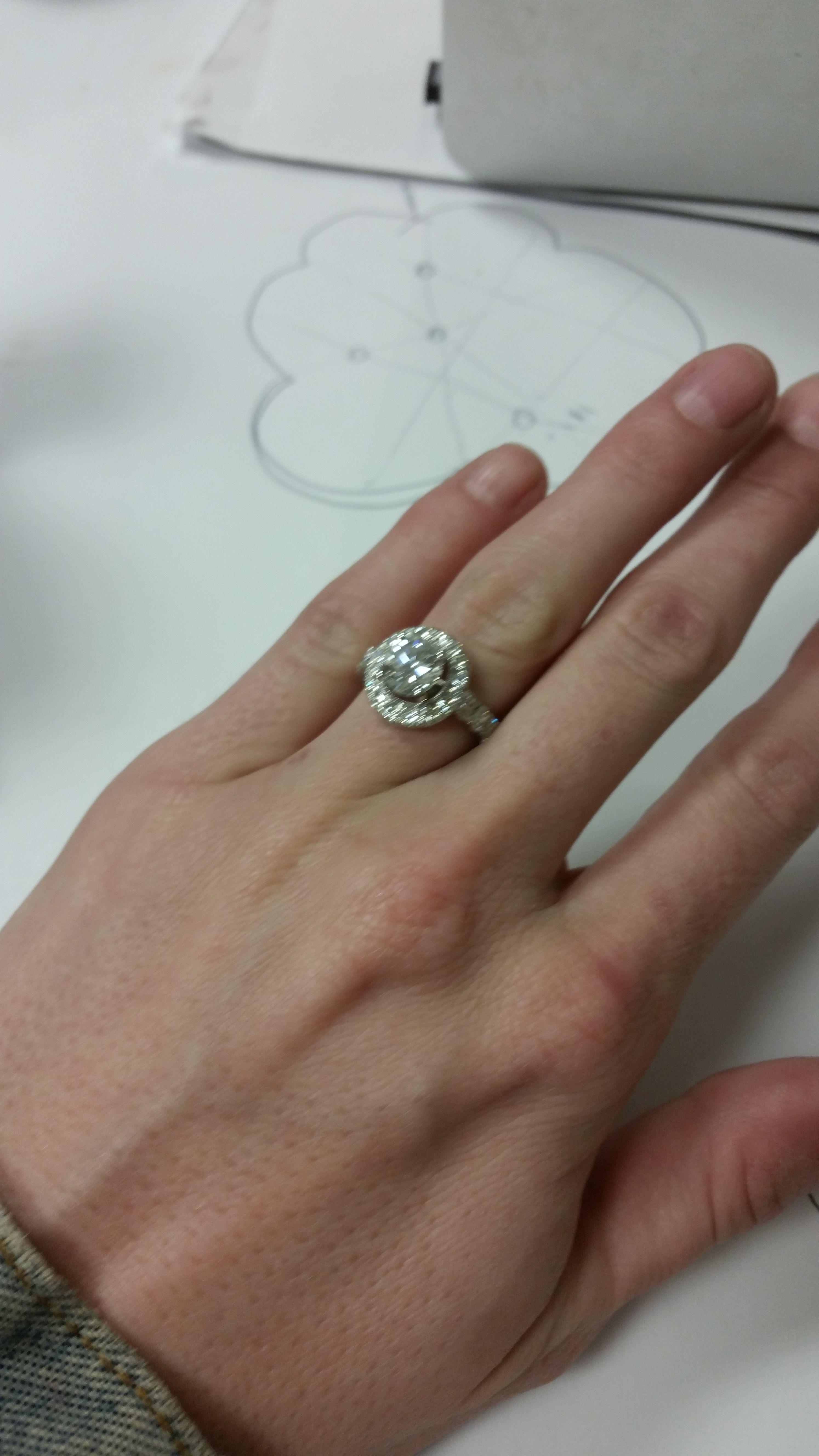 Custom Made Diamond Engagement Ring By Secrete Fine Jewelry In Dupont Circle Washington Dc Diamond Engagement Rings Engagement Rings Fine Jewelry