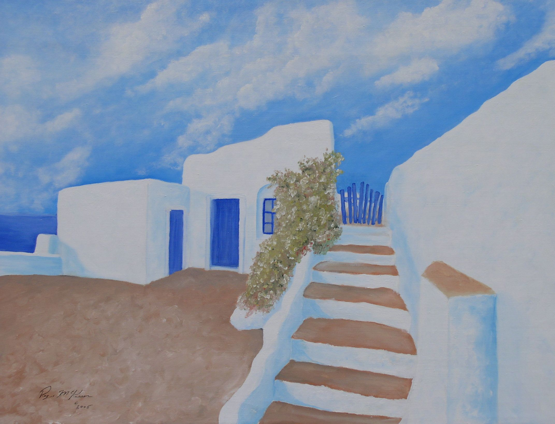 """Oil on Canvas Painting from Greek Isles Series. 30"""" x 40"""" www,rogermckasson.com"""
