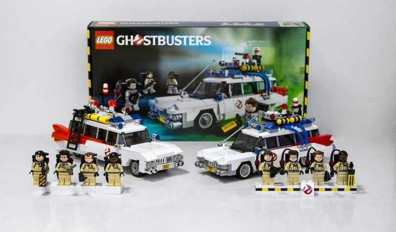 official ghostbusters ecto 1 lego set full display gabes pins rh pinterest com