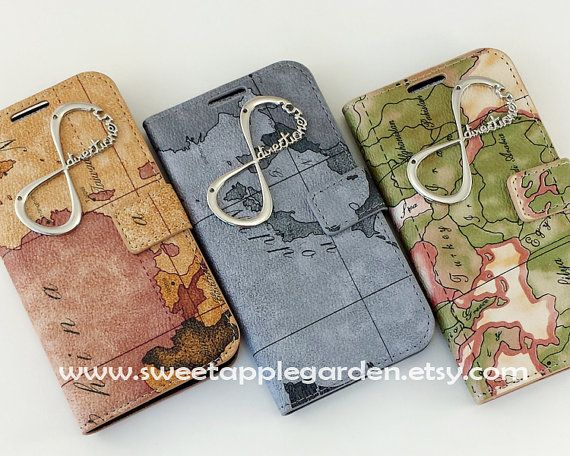 Vintage World Map leatherette Wallet case, One Directioner case for iphone 4,4s, iphone 5,5s,5c, Samsung Galaxy Note 2, Note 3, S2 ,S3, S4 on Etsy, $15.99