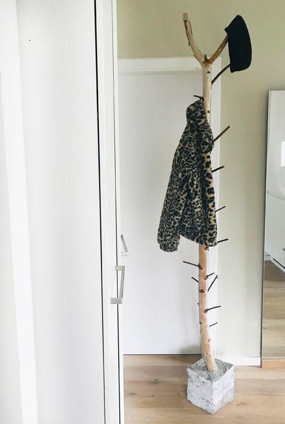 Garderobe aus Birkenstamm   einfach machen in 2020 ...