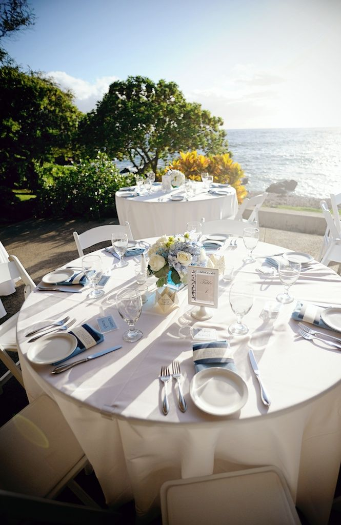 long table setup wedding reception%0A We loved this soft blue tropical table set up for this fab wedding reception  at