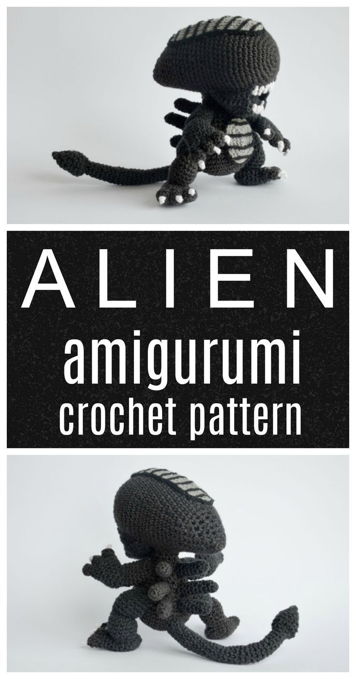 Alien the movie amigurumi geeky pattern. #etsyfinds #crochetpattern #geek #affiliate #afghanpatterns