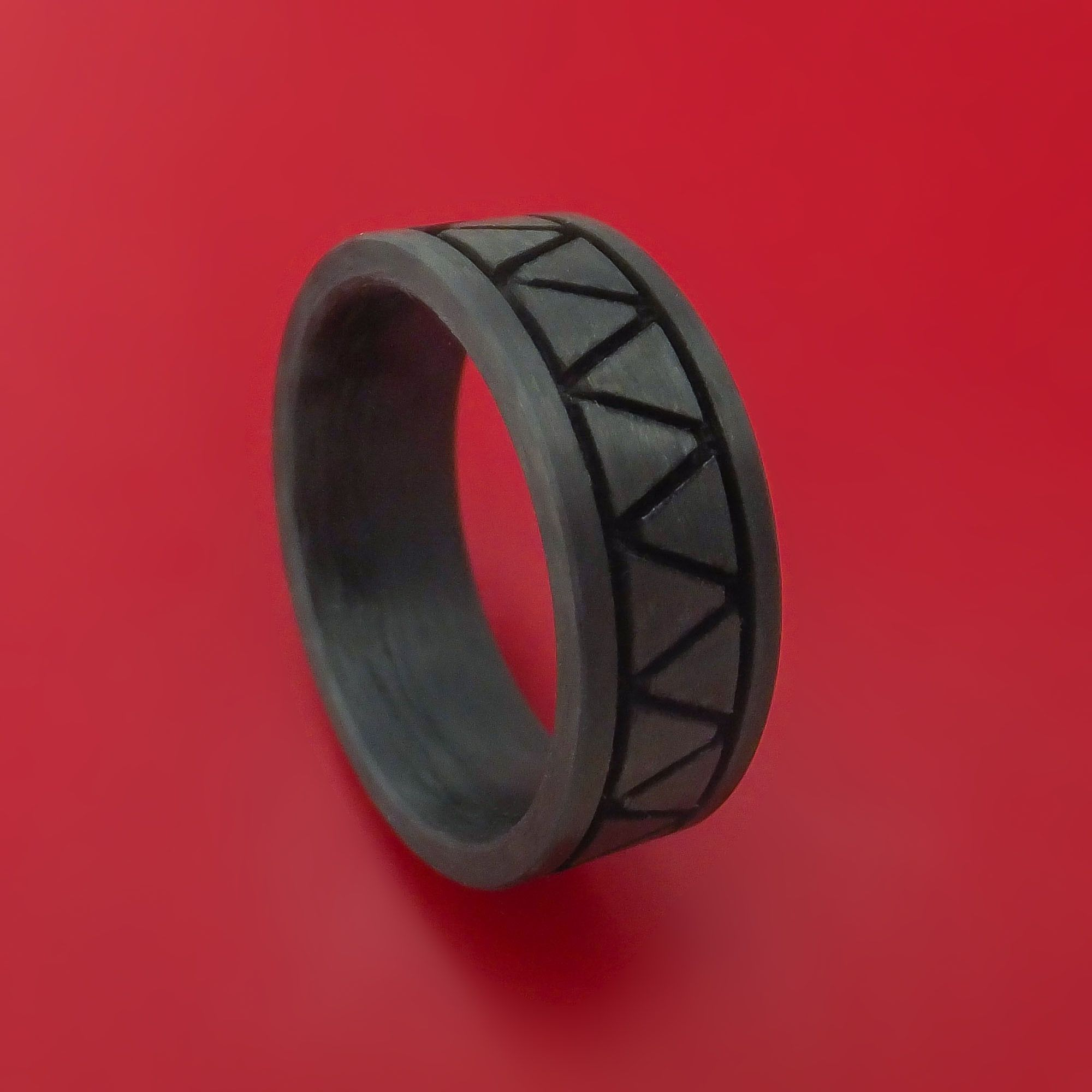 solid carbon fiber ring custom made pattern band our latest rh pinterest com