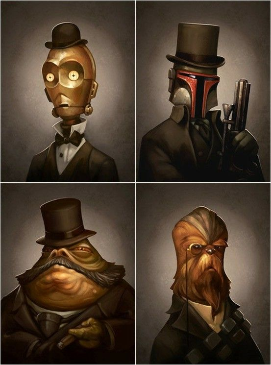 Star Wars Portraits (nerdy grin).