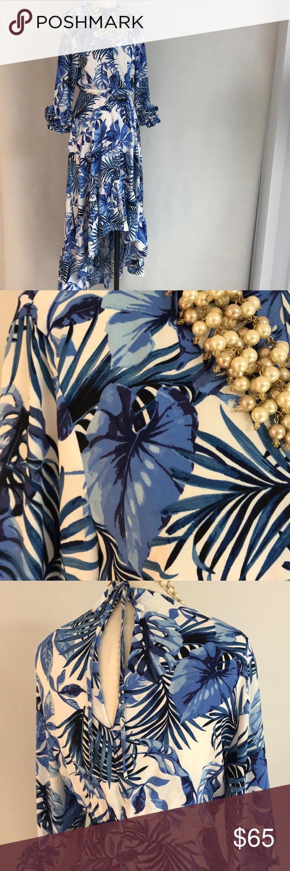 Hl mediterranean azul dress nwt nwt my posh closet pinterest