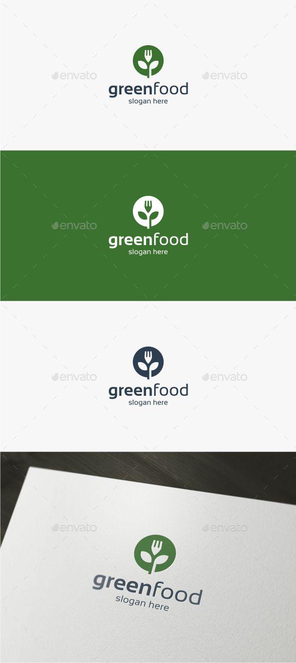 Green Food Logo Template Green Food