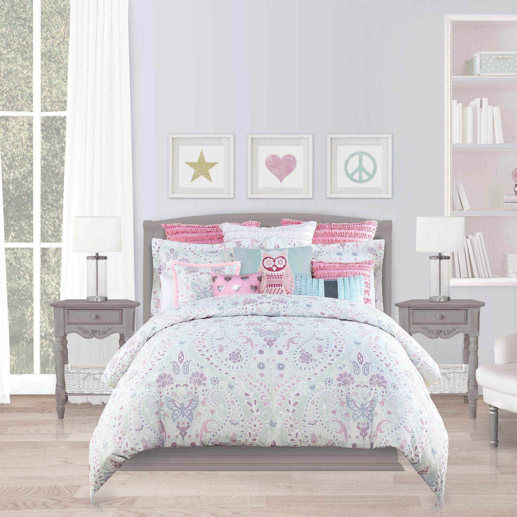 butterfly paisley comforter set by envogue international rh pinterest com