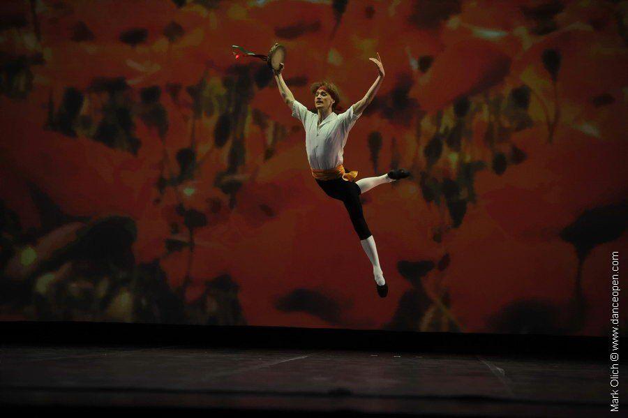 Denis Matvienko in George Balanchine's Tarantella.  Photo (c) Mark Olich.