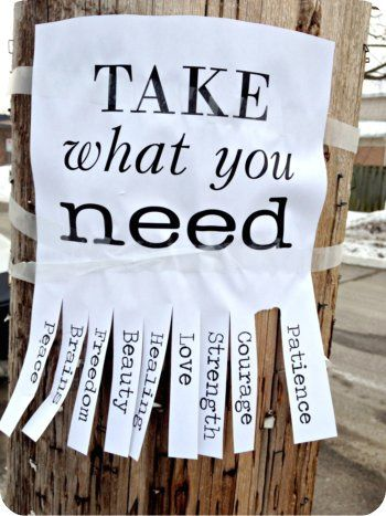 Take what you need poster (via Flickr)