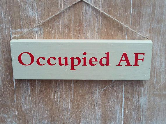 occupied af vacant af double sided bathroom door sign college rh pinterest com