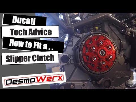 Ducati Tech Advice - How to fit a Slipper Clutch to a Ducati - 748, 9XX, 1098, ST2 Etc.... - YouTube