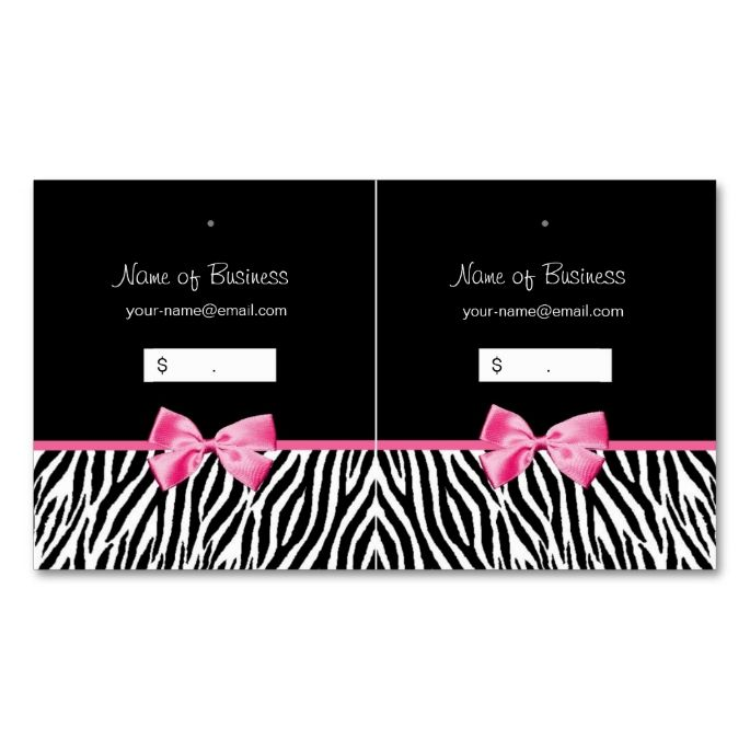 Trendy black and white zebra print hang tag hang tags zebra print trendy black and white zebra print hang tag business card reheart Choice Image