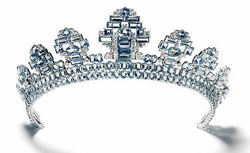 Cartier Topaz and Diamond Tiara c. 1937.