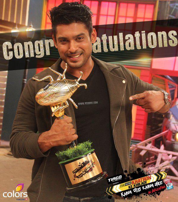 KKK7 winner #sidharthshukla | Colors tv show, Winner, Tv stars