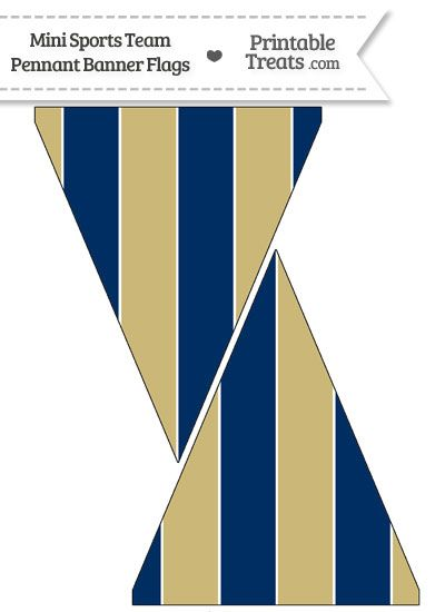 Padres Colors Mini Pennant Banner Flags from PrintableTreats