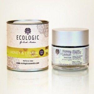 ECOLOGIC – Exfoliante facial MIEL y LIMÓN para todo tipo de pieles - cosmética ecológica