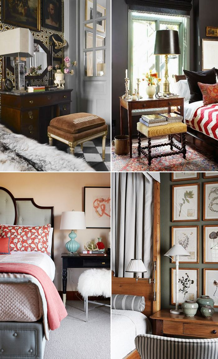 Desks as Nightstands and When You Shouldn't Thrift Decor