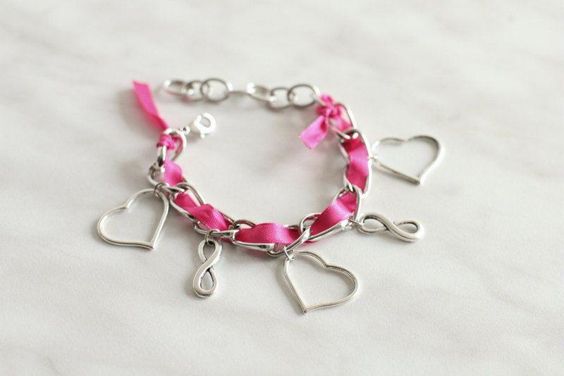 Infinity Love Charm Bracelet. $15.54, via Etsy.