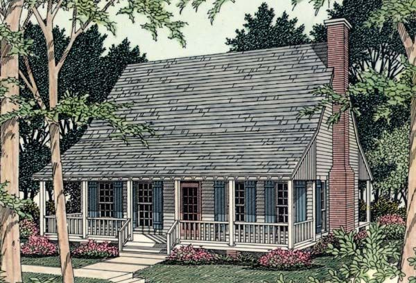 house plan 40025 cabin country southern plan with 923 sq ft 2 rh pinterest com