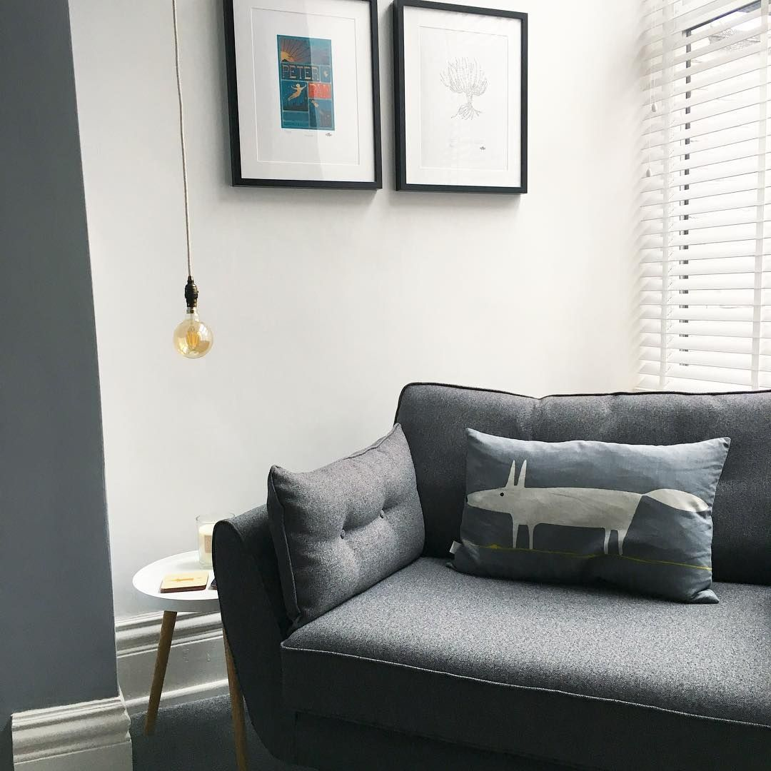 grey living room furniture%0A Grey colour scheme with mid century modern furniture  Scion accessories