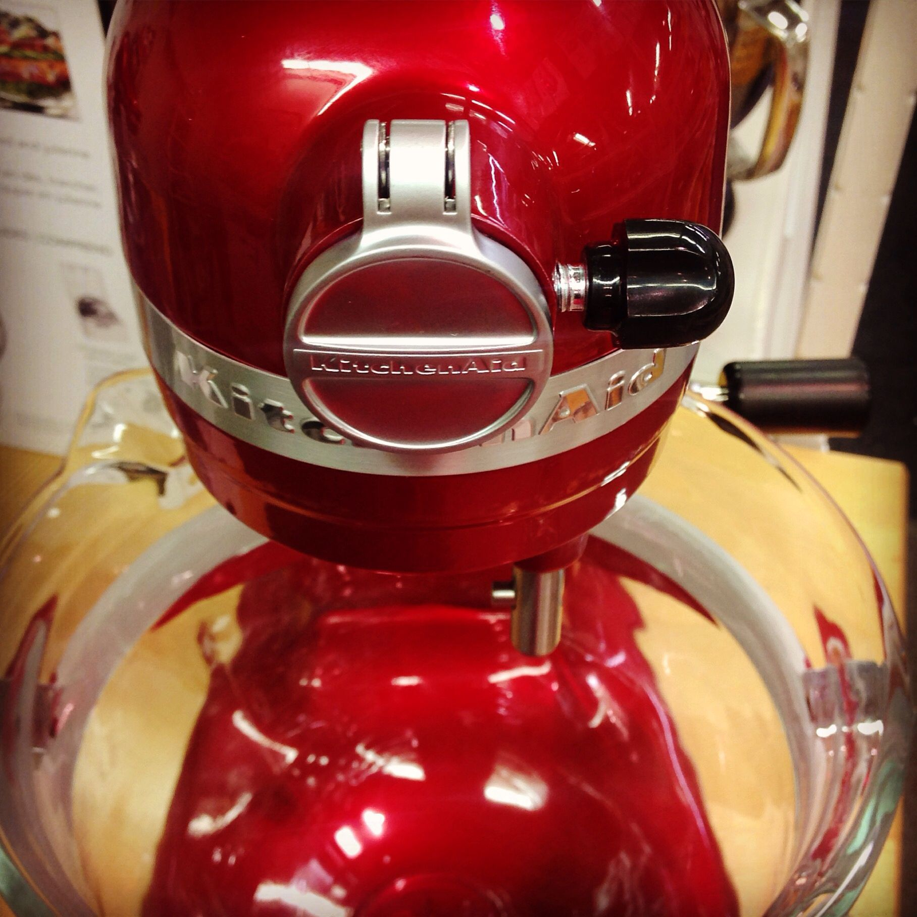 We love this 6 qt. Glass Bowl Stand mixer from KitchenAid