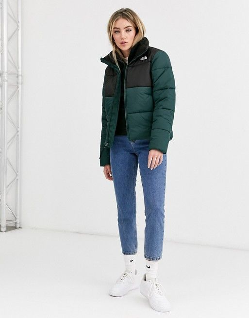 The North Face Saikuru Puffer Jacket In Green Asos If I Move To Boston Or Edinburgh North Face Puffer Jacket North Face Jacket Womens North Face Outfits