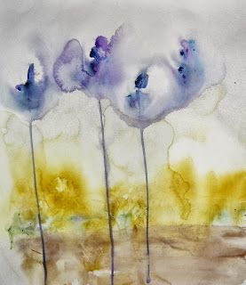 Karin Johannesson Contemporary Watercolour: Misc. flowers