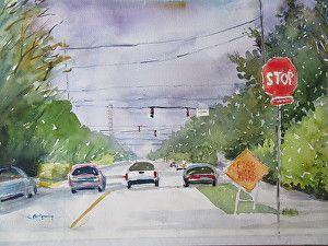 Road Work Ahead by Carol Montgomery