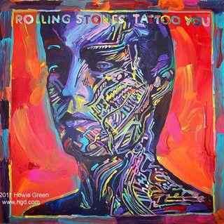 Rolling Stones Tattoo You Album Cover Painting Classic Album