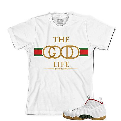 341e8c3f6d8765 Shirt To Match Gucci Foamposites. Good Life Ii Tee. White Gucci Foams