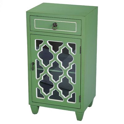 mistana fairhills 1 drawer and 1 door acccent cabinet with glass rh pinterest com