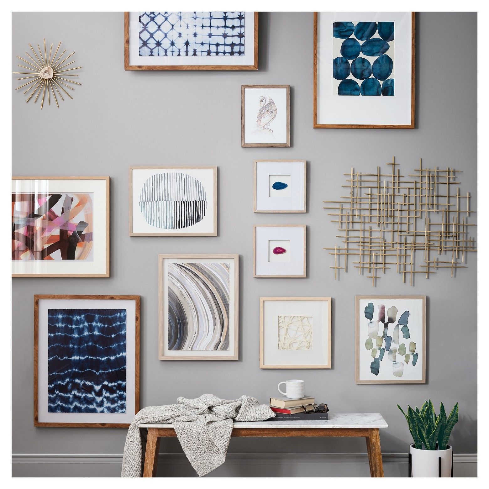 2pk Shibori Wall Art Threshold