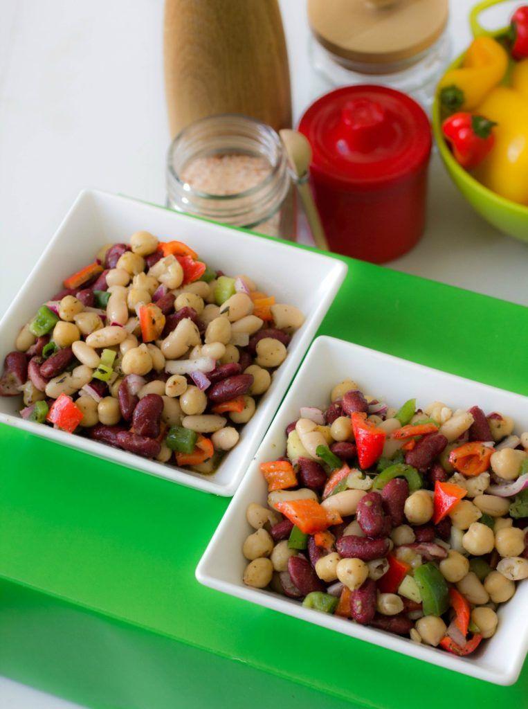 3 Bean Salad Recipe Bean Salad Recipes Bean Salad Healthy Christmas Recipes