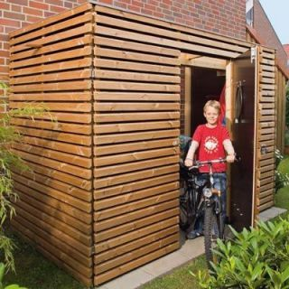 Kompakte Fahrradgarage schnell gebaut Mit unserer
