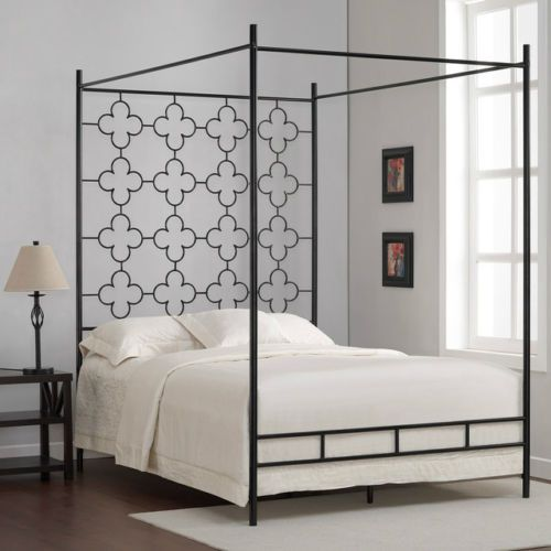 Best Mid Century Modern Queen Canopy Bed Quadrafoil Bedframe 640 x 480