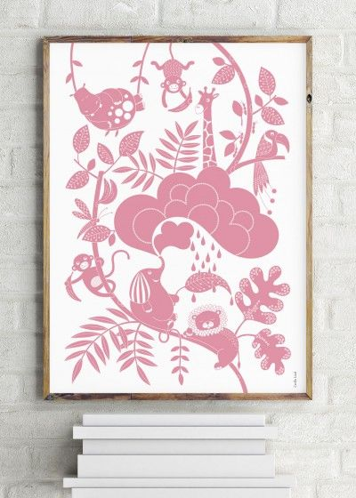 Lazy Jungle pink - Illustration