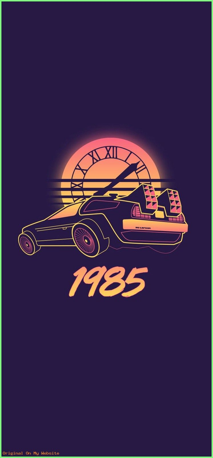 Wallpaper Backgrounds Vintage Back To The Future Retro Wave