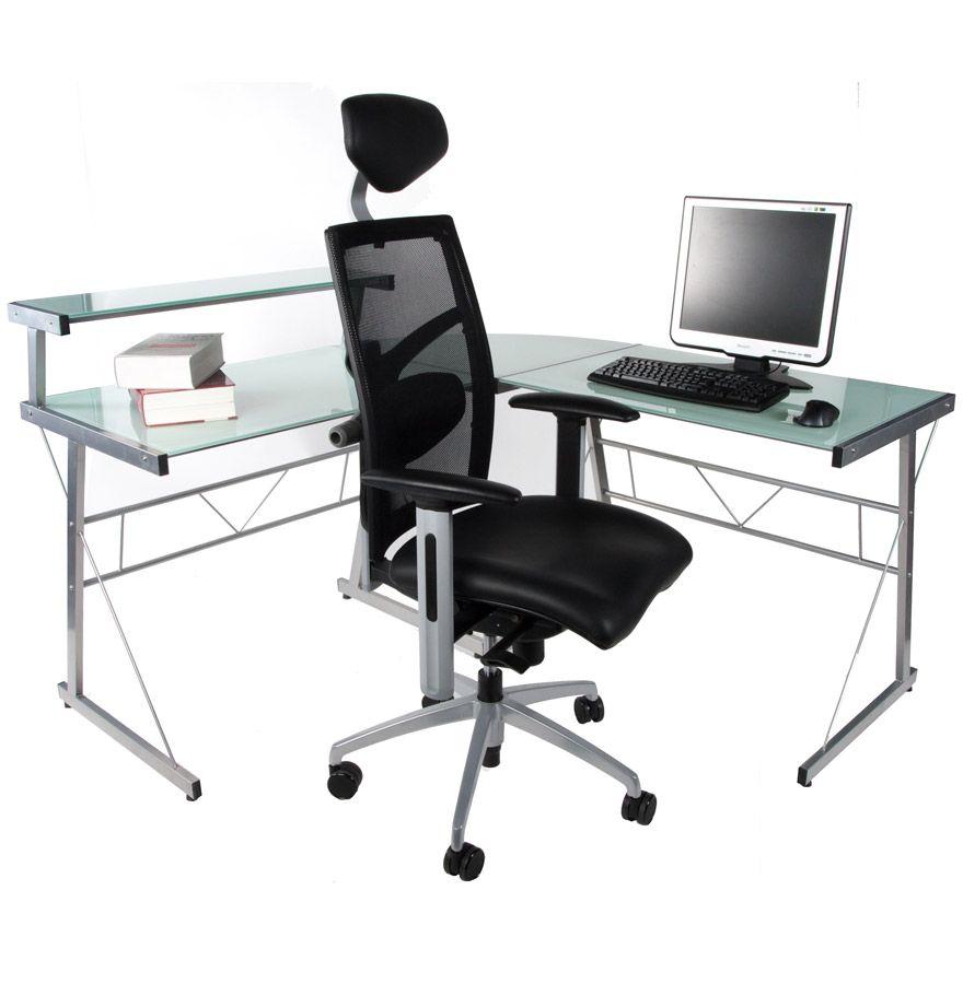 Bureau D Angle Job Http Www Alterego Design Com Bureau D Angle En Verre Blanc Job Design Informatique Html Chaise Bureau Bureau Fille Bureau Fly