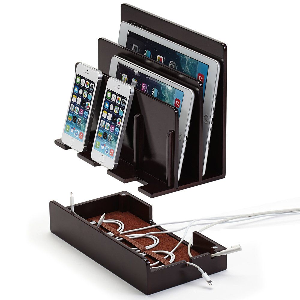 Awesome Great Useful Stuff¨ High Gloss Cherry Multi Device Charging Station And Dock  For IPhone