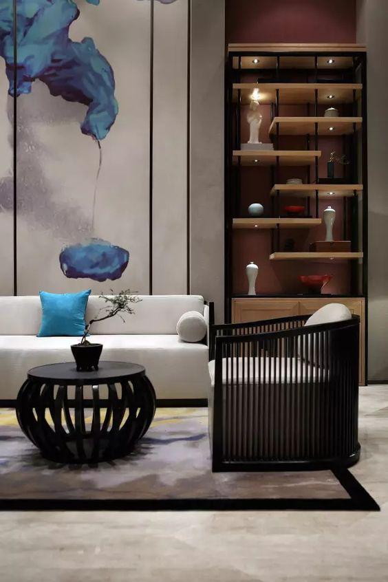 Modern Asian Interior With Natural Materials: Modern Chinese Interior, Interior