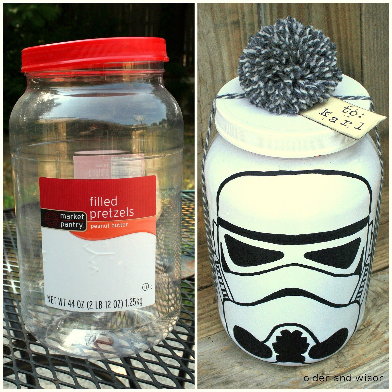 "DIY Stormtrooper ""Gift Wrap"" recycling Star Wars style"