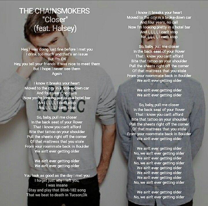 Lyric all i know lyrics : The chainsmoker closer   lyrics song   Pinterest   Songs