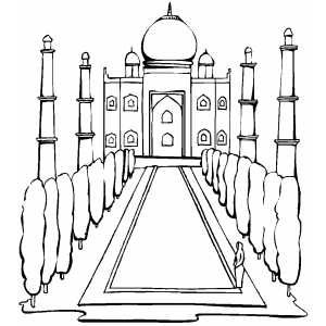 Taj Mahal In India Taj Mahal India Coloring Pages Mermaid