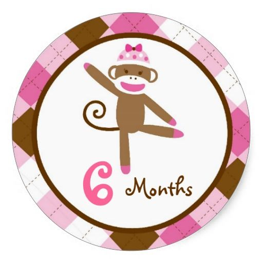 Awesome Girl Sock Monkey Monthly Milestone Stickers Zazzle Com Complete Home Design Collection Epsylindsey Bellcom