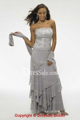 A-line Mother of the Bride Dress with Elegant Cape